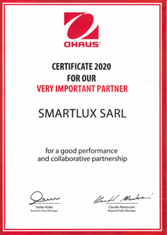 Ohaus Very Important Partner